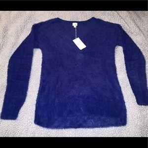 Beautiful blue fuzzy sweater